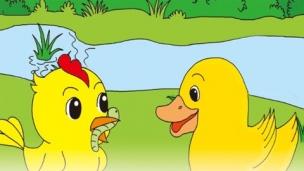 小学 一年级 语文   小公鸡和小鸭