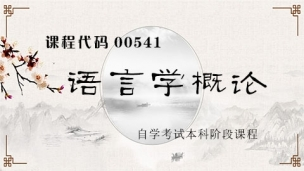 【精】00541 语言学概论
