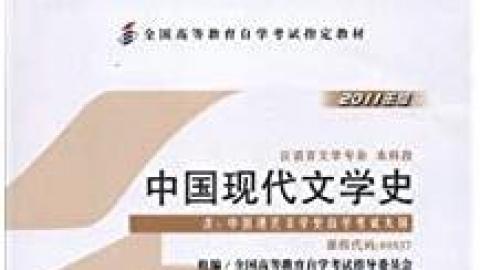 00537 中国现代文学史 导学课